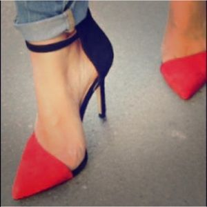 Red and Black Asymmetrical Heels